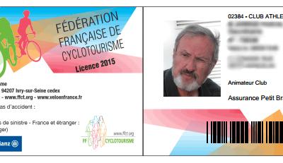 Pour obtenir votre attestation de licence FFCT 2015 avec photo