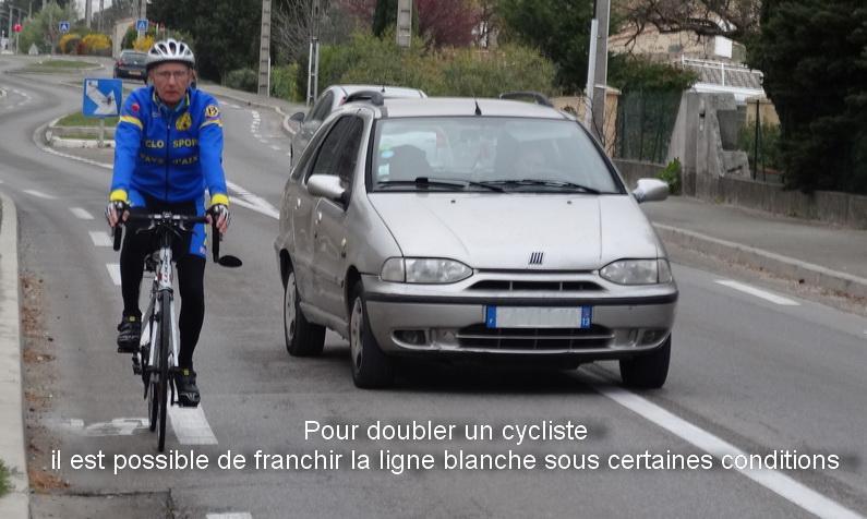 La FFCT a été entendue – Dépassement d'un cycliste